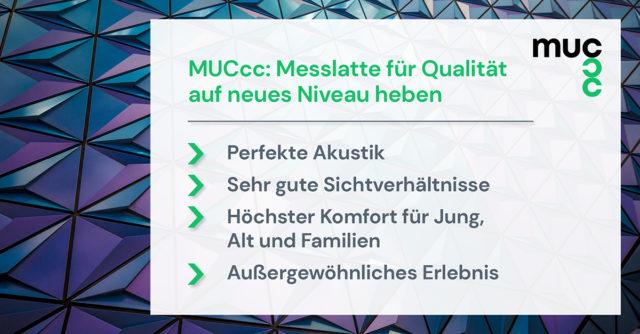MUCcc wird die Messlatte für Qualität auf ein neuen Niveau heben